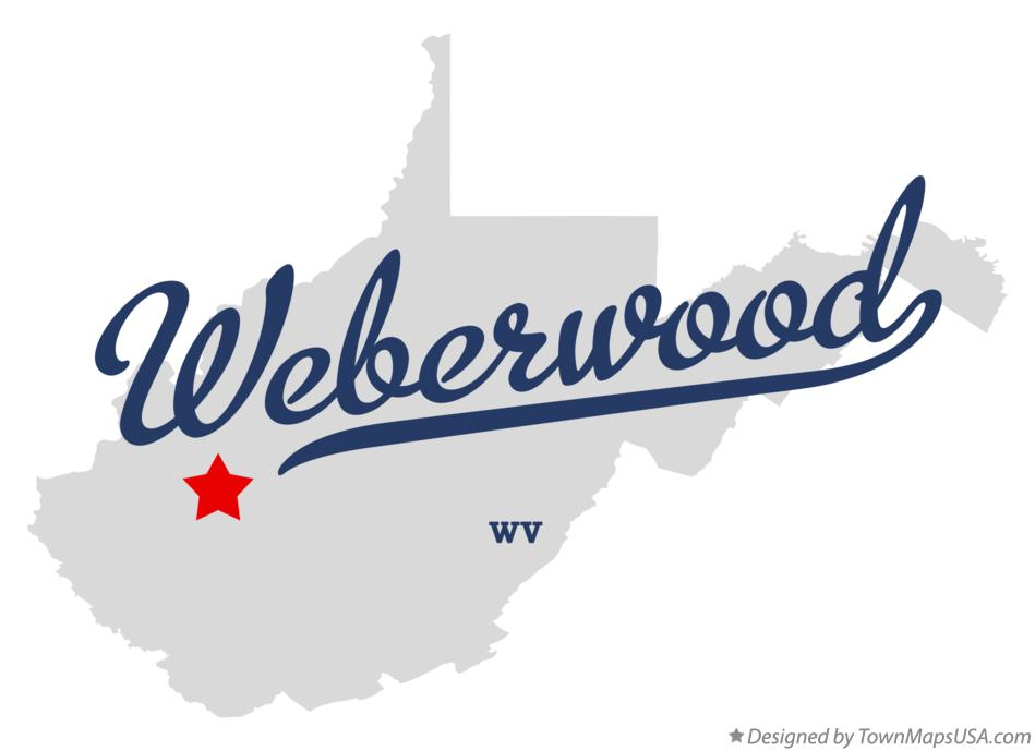Map of Weberwood West Virginia WV