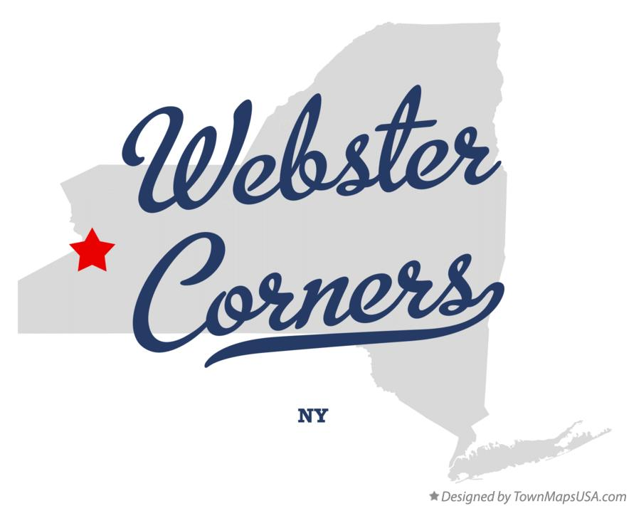 Map of Webster Corners New York NY