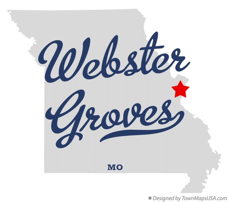 Map of Webster Groves Missouri MO