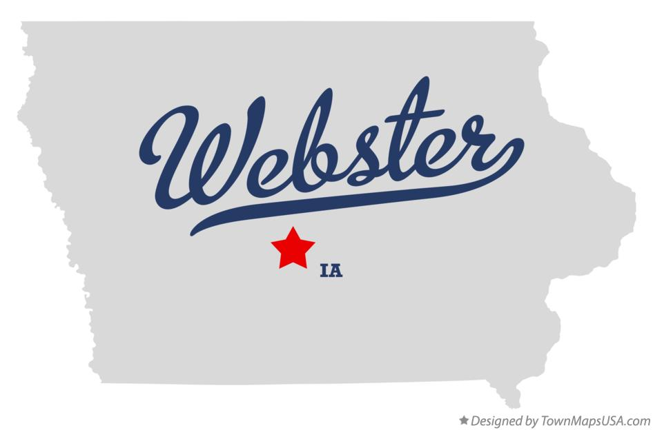 Map of Webster Iowa IA