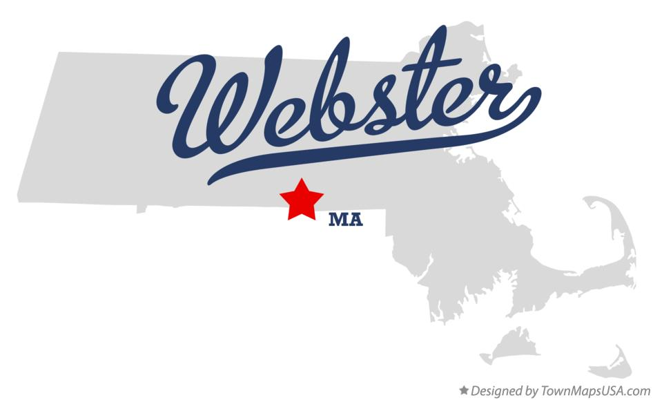 Map of Webster Massachusetts MA