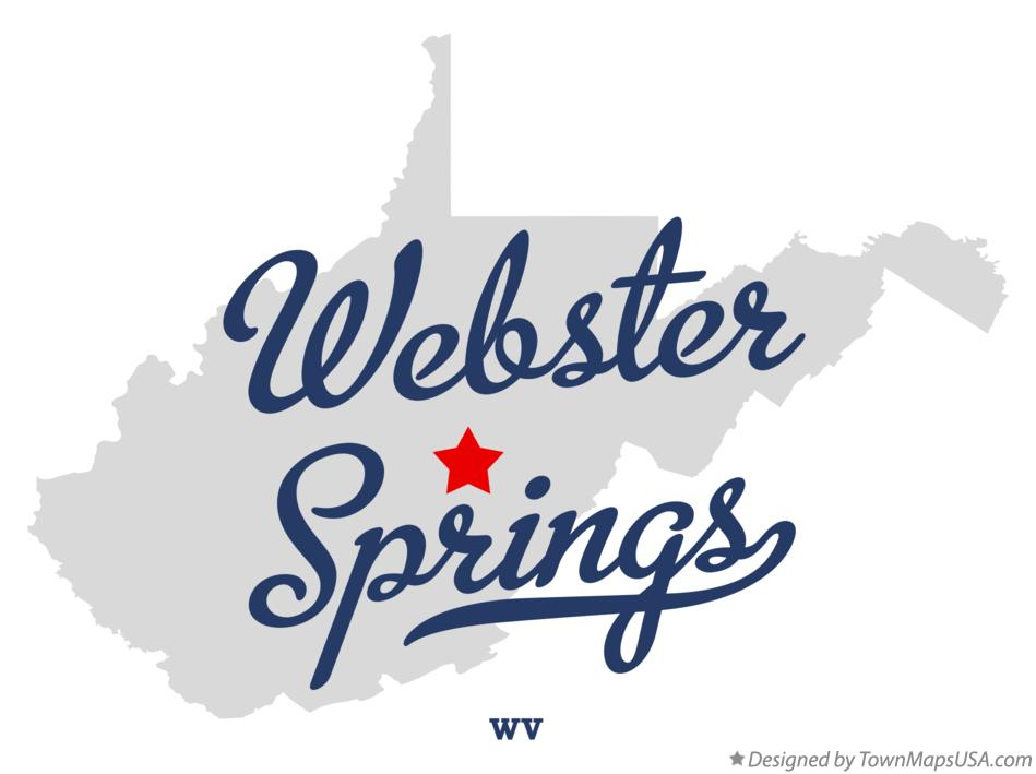 Map of Webster Springs West Virginia WV