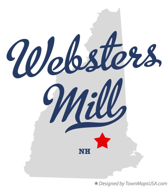 Map of Websters Mill New Hampshire NH
