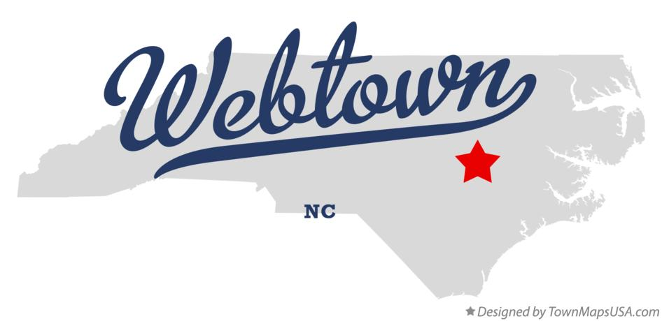 Map of Webtown North Carolina NC