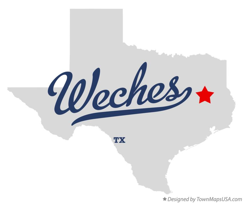 Map of Weches Texas TX