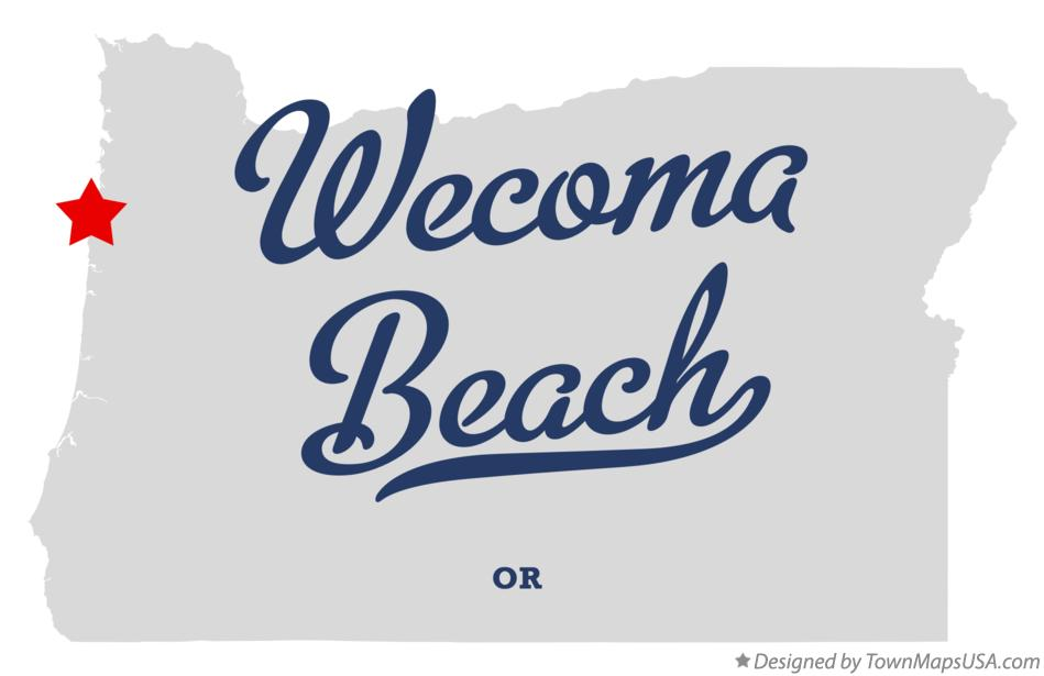 Map of Wecoma Beach Oregon OR