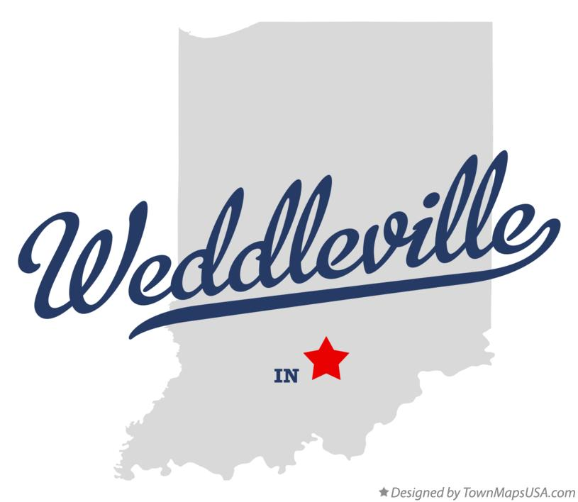 Map of Weddleville Indiana IN