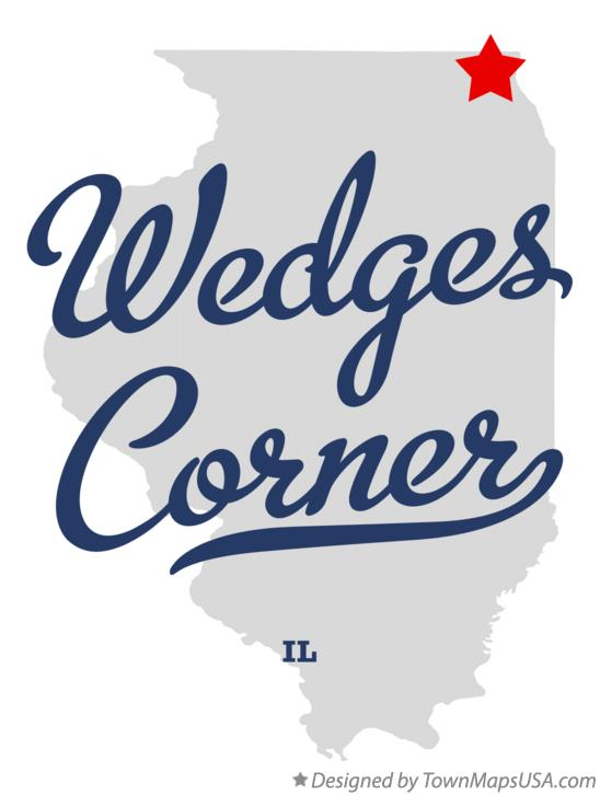 Map of Wedges Corner Illinois IL