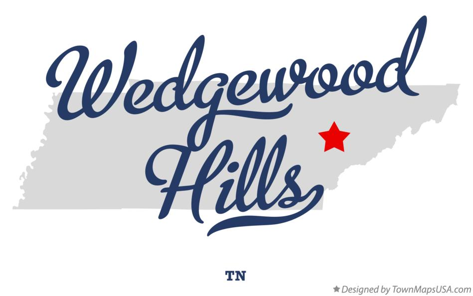 Map of Wedgewood Hills Tennessee TN