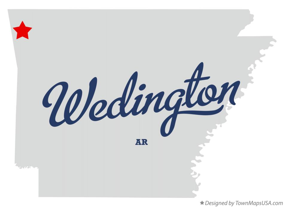 Map of Wedington Arkansas AR