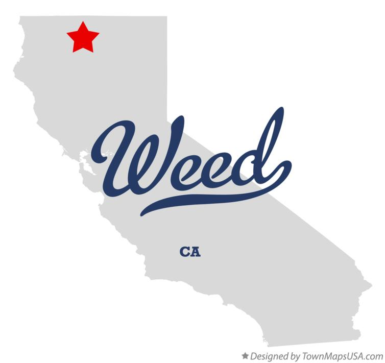Map of Weed California CA