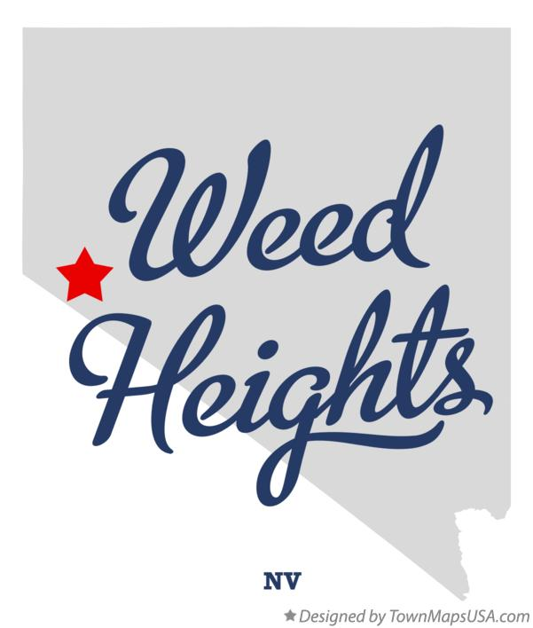 Map of Weed Heights Nevada NV