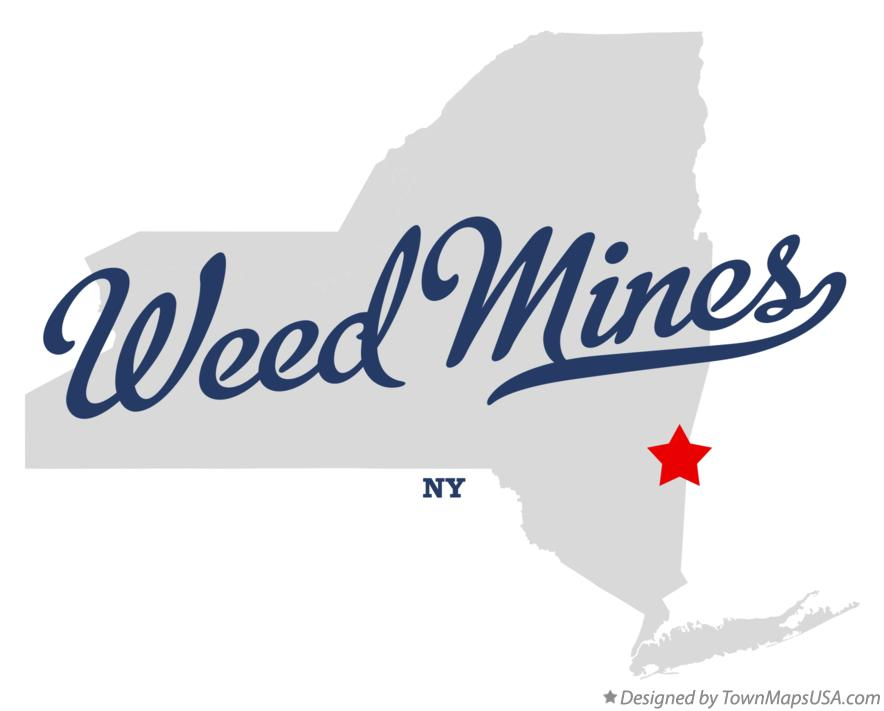 Map of Weed Mines New York NY