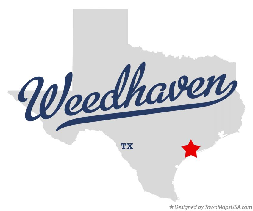 Map of Weedhaven Texas TX