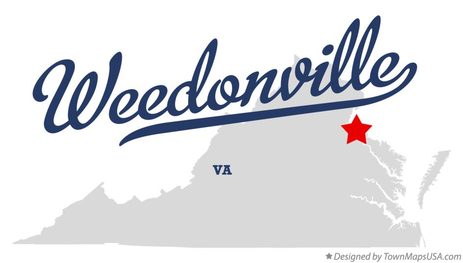 Map of Weedonville Virginia VA