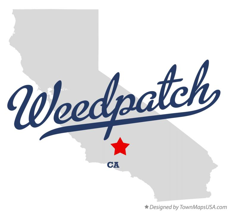 Map of Weedpatch California CA