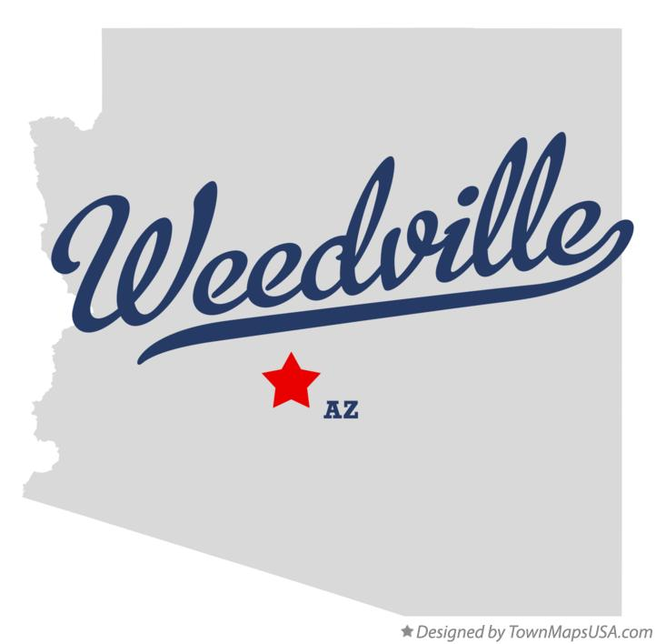 Map of Weedville Arizona AZ