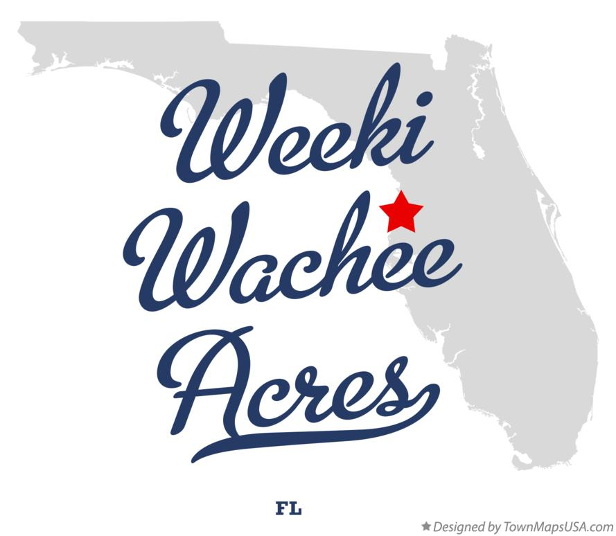 Map of Weeki Wachee Acres Florida FL
