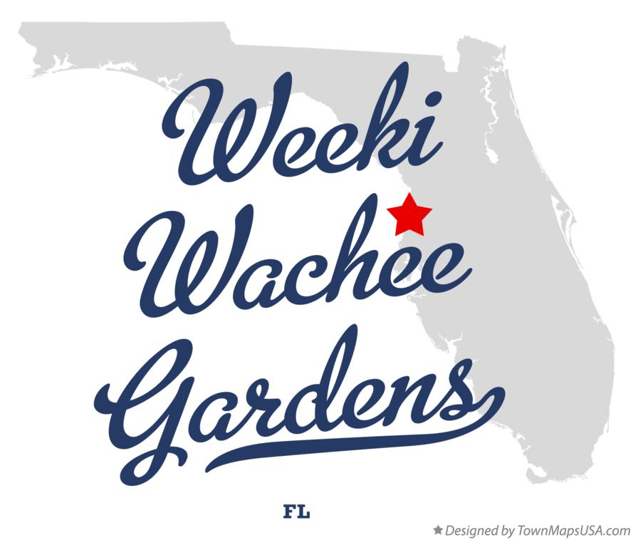 Map of Weeki Wachee Gardens Florida FL