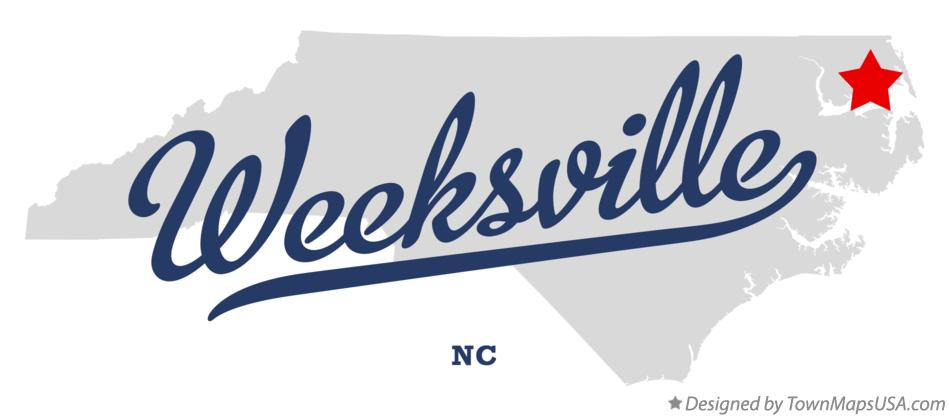 Map of Weeksville North Carolina NC