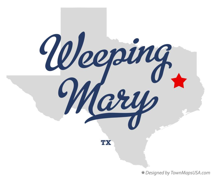 Map of Weeping Mary Texas TX