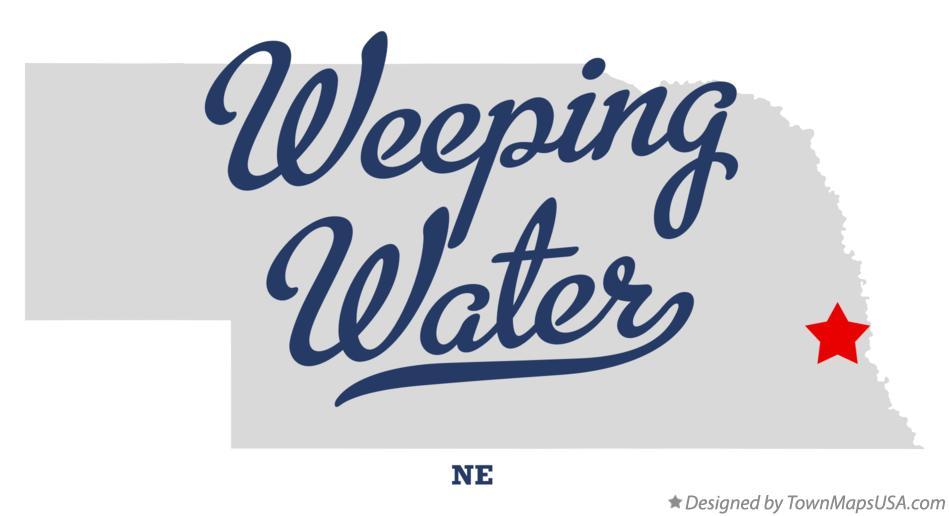 Map of Weeping Water Nebraska NE