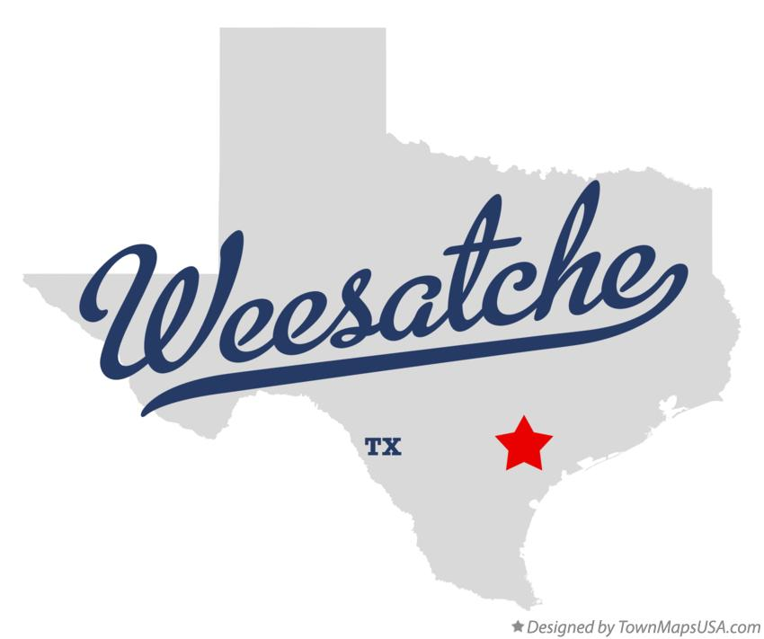 Map of Weesatche Texas TX