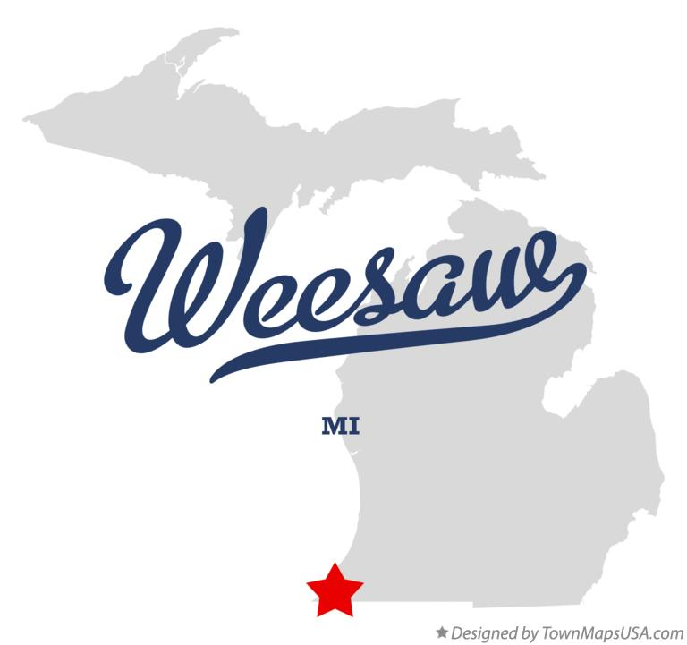 Map of Weesaw Michigan MI