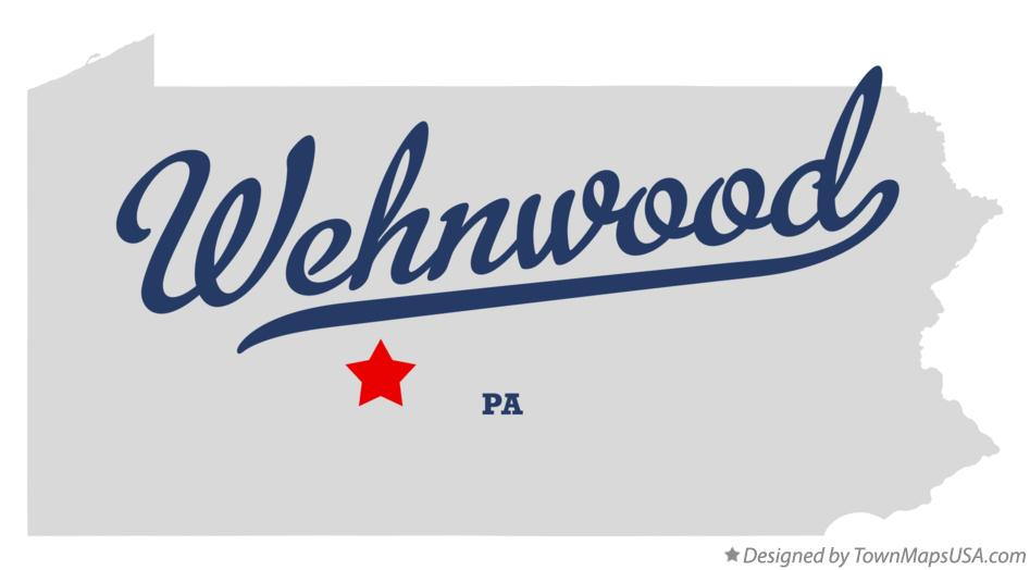 Map of Wehnwood Pennsylvania PA