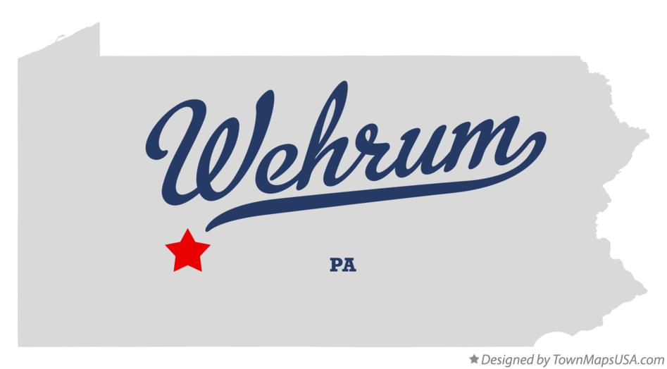 Map of Wehrum Pennsylvania PA