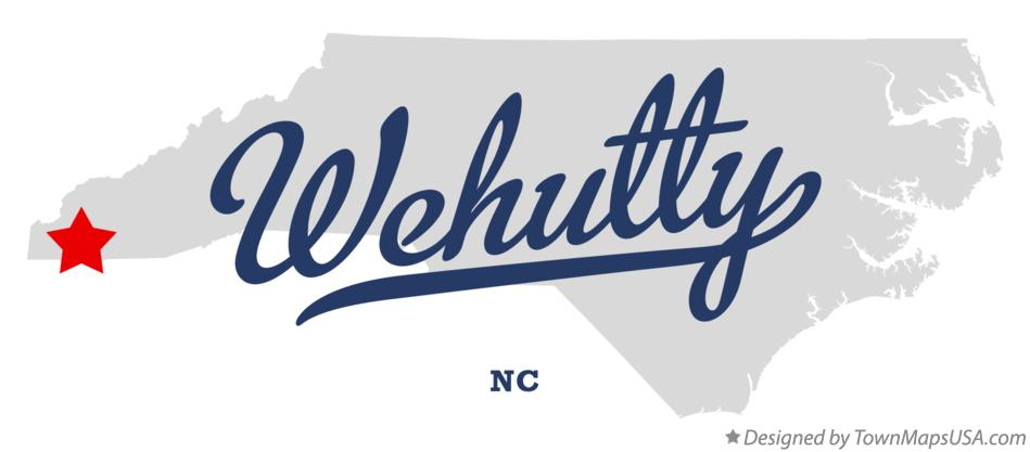 Map of Wehutty North Carolina NC