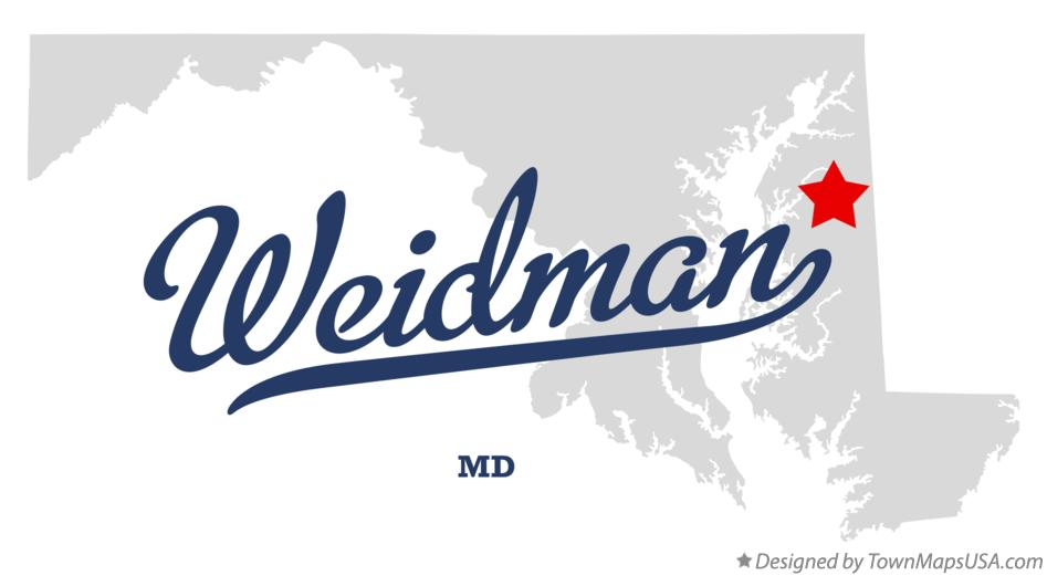 Map of Weidman Maryland MD