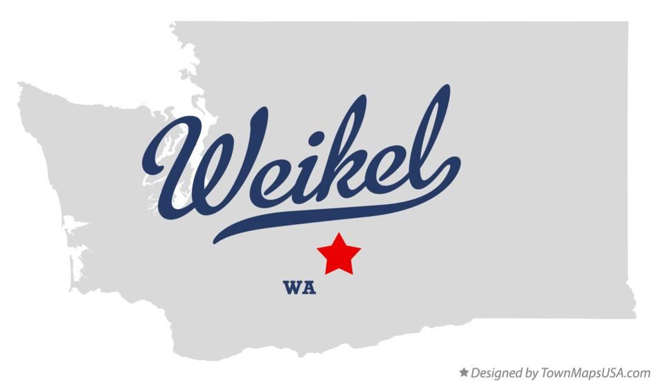 Map of Weikel Washington WA