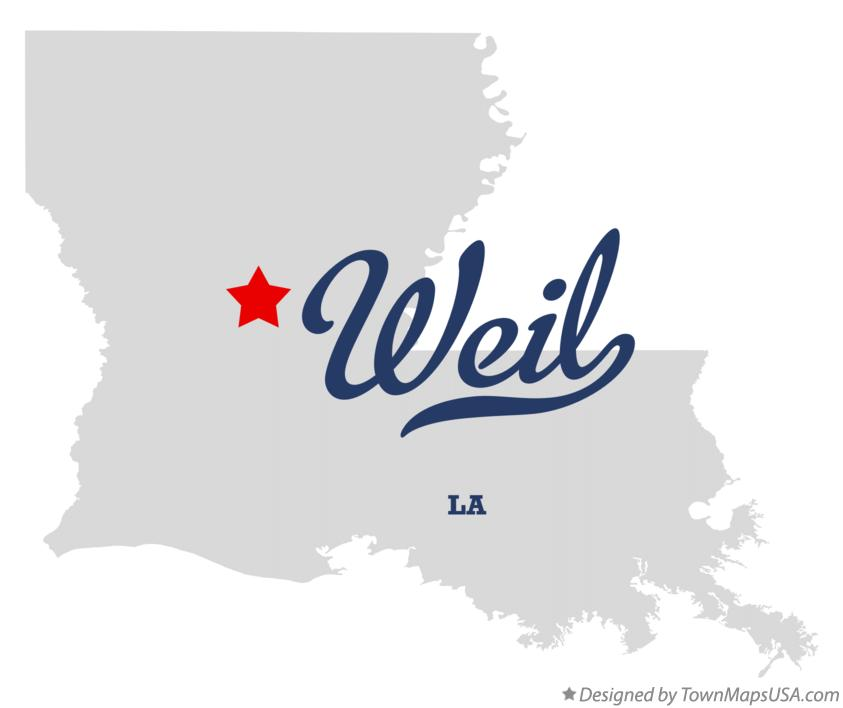 Map of Weil Louisiana LA