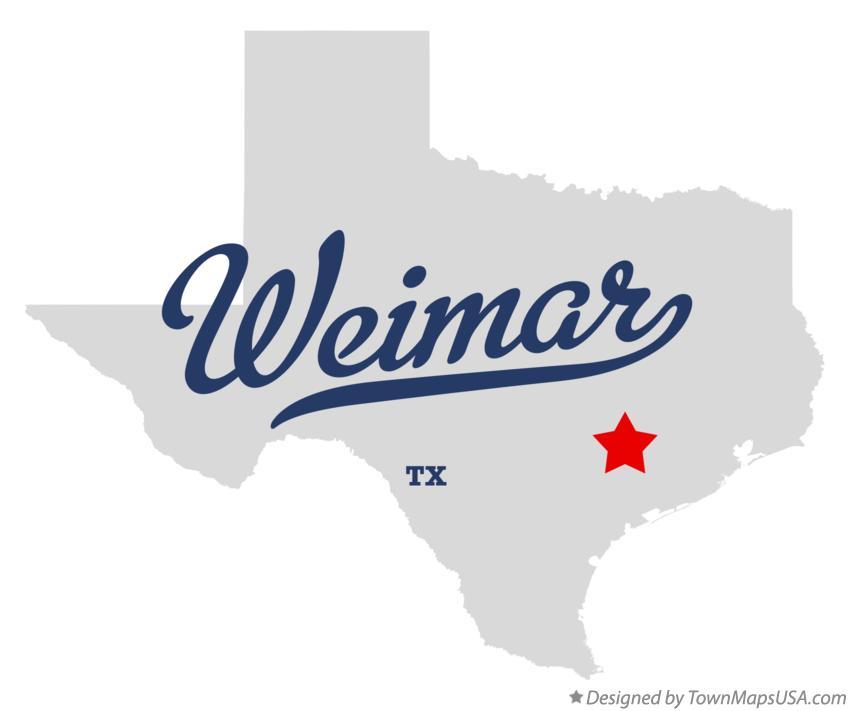 Weimar Texas Map Map of Weimar, TX, Texas
