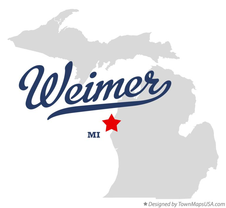 Map of Weimer Michigan MI