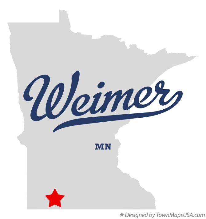 Map of Weimer Minnesota MN