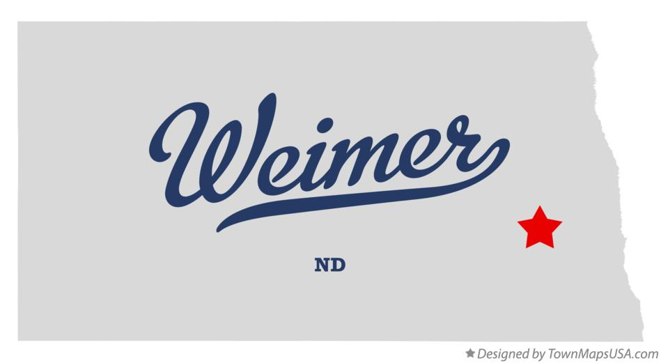 Map of Weimer North Dakota ND
