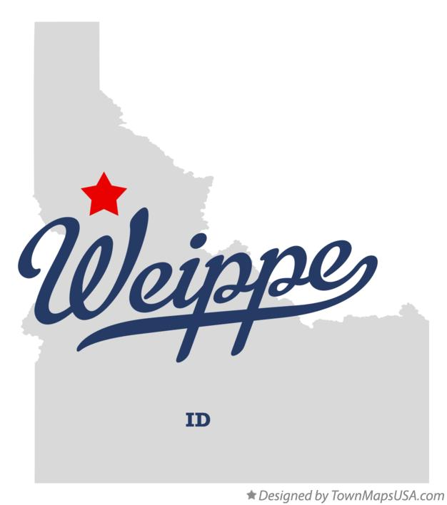 Map of Weippe Idaho ID