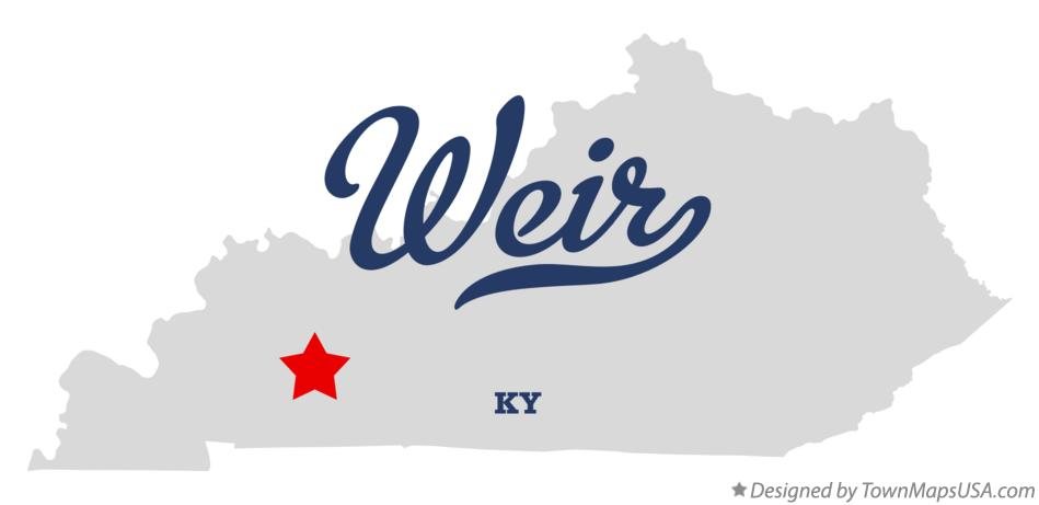 Map of Weir Kentucky KY