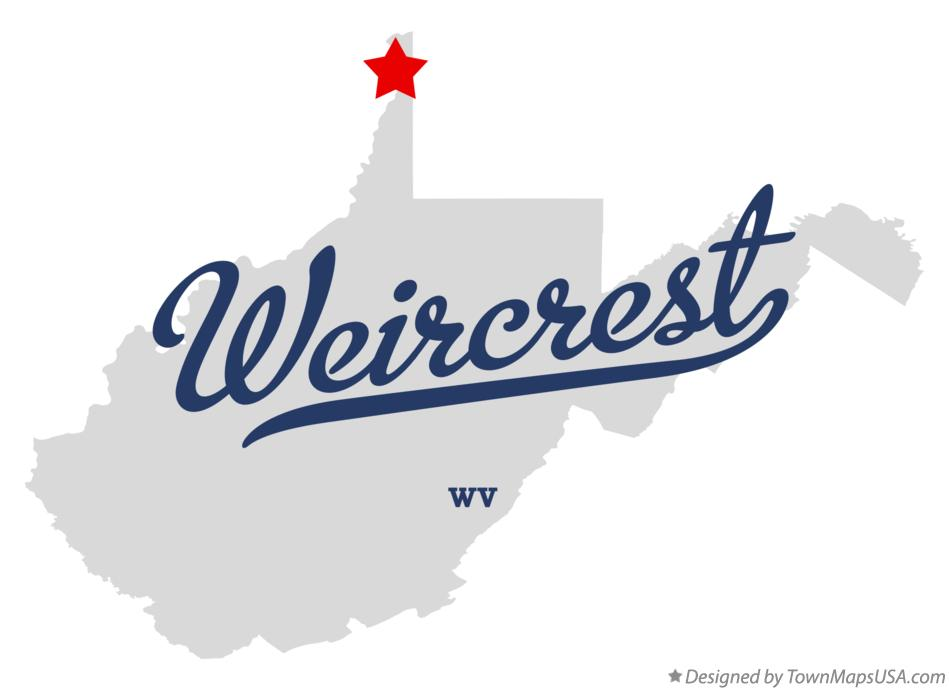 Map of Weircrest West Virginia WV