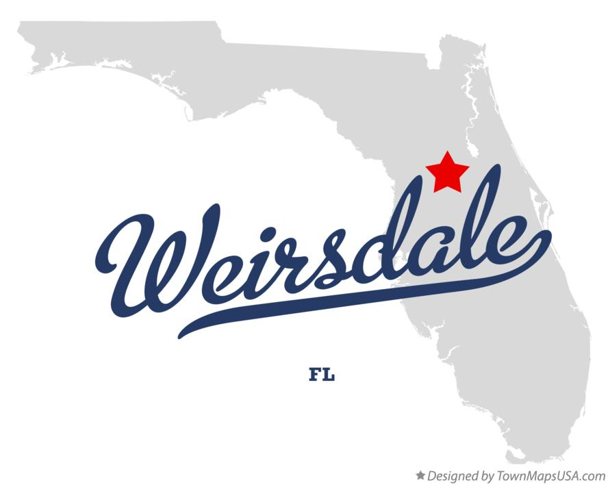 Map of Weirsdale Florida FL