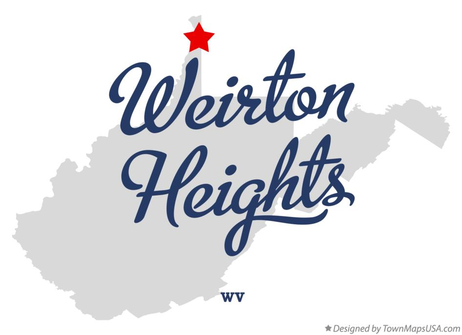 Map of Weirton Heights West Virginia WV