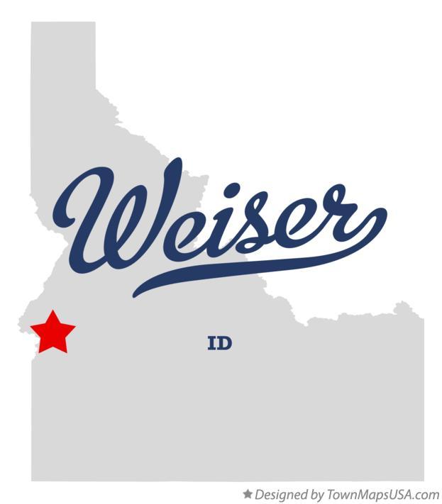 Map Of Weiser Id Idaho