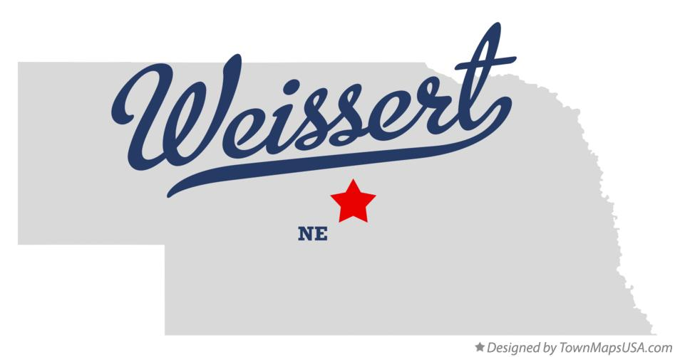 Map of Weissert Nebraska NE