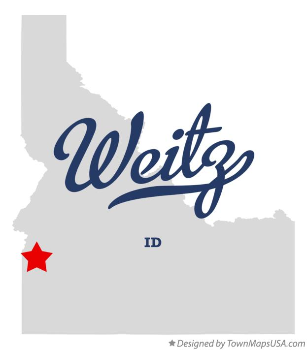 Map of Weitz Idaho ID