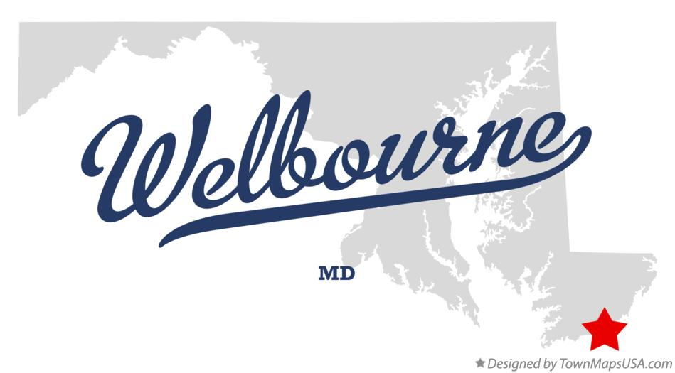 Map of Welbourne Maryland MD