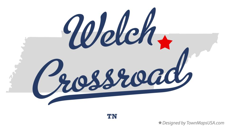 Map of Welch Crossroad Tennessee TN