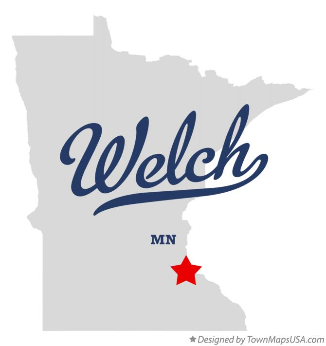 Map of Welch Minnesota MN