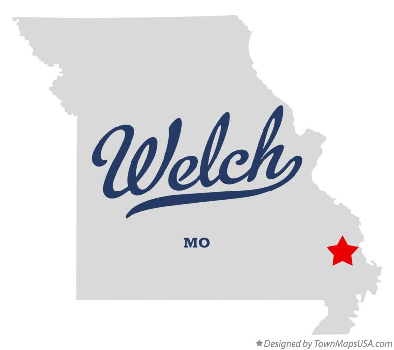 Map of Welch Missouri MO